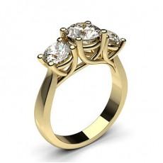 Bague de fiançailles solitaire diamant rond serti barette 0.50ct