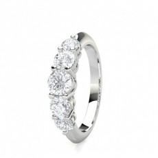 Bague illusion diamant rond/princesse serti pavé et 0.85ct