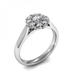 Bague illusion diamant oval/rond serti griffes