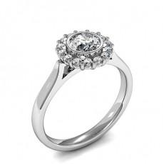 Bague illusion diamant rond serti griffes