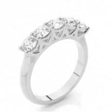 Bague 5 pierres diamant rond serti griffes