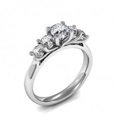 Bague fantaisie diamant rond serti demi-clos en 1.07ct